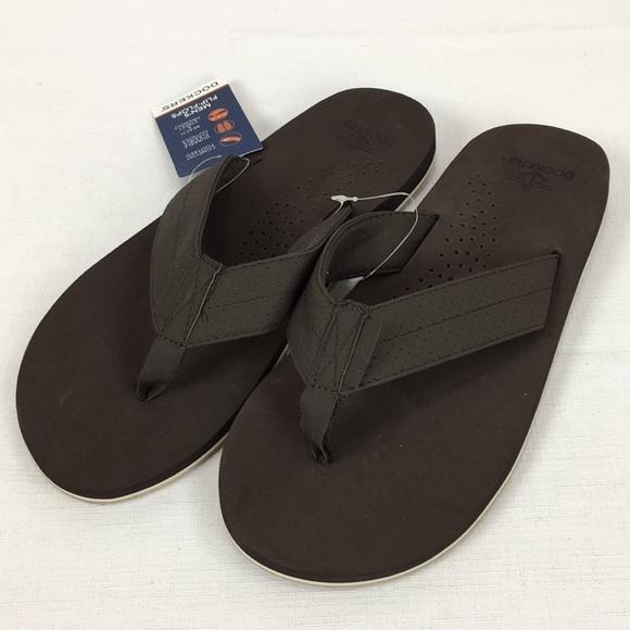 41c3449ec06d NWT Dockers Men s Thong Comfort Flip Flops Brown